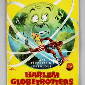 1967 Harlem Globetrotter ( Sigs.5w/Meadowlark Lemon, Freddie Curly Neal Team In Cert )