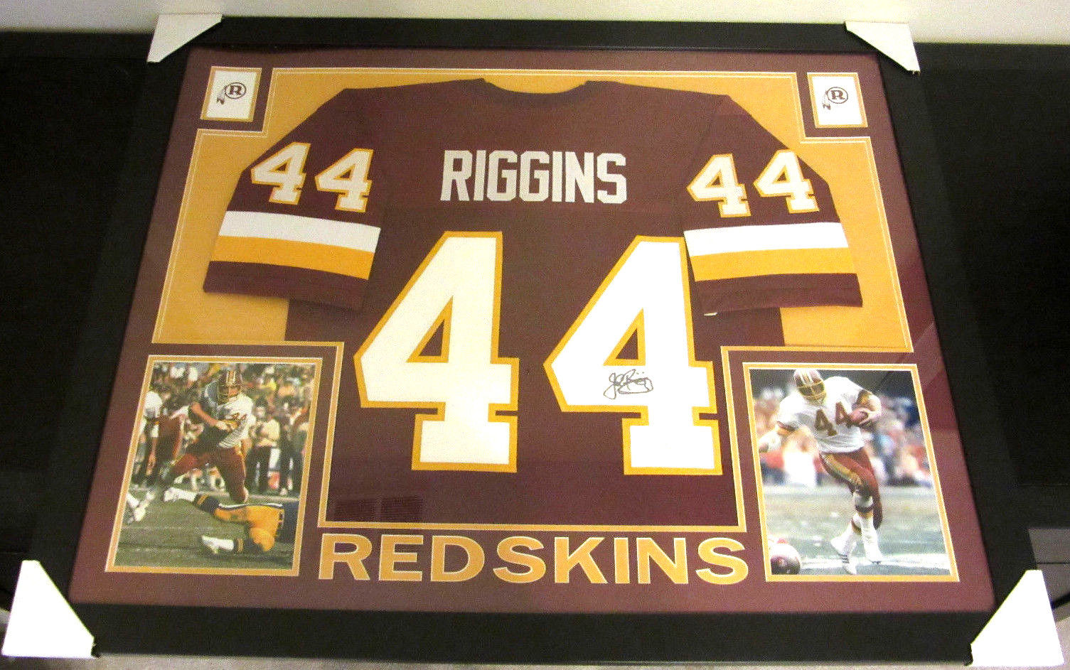 huge selection of 4ee5f 40742 JOHN RIGGINS AUTHENTIC AUTOGRAPHED FRAMED AND MATTED WASHINGTON REDSKINS  JERSEY