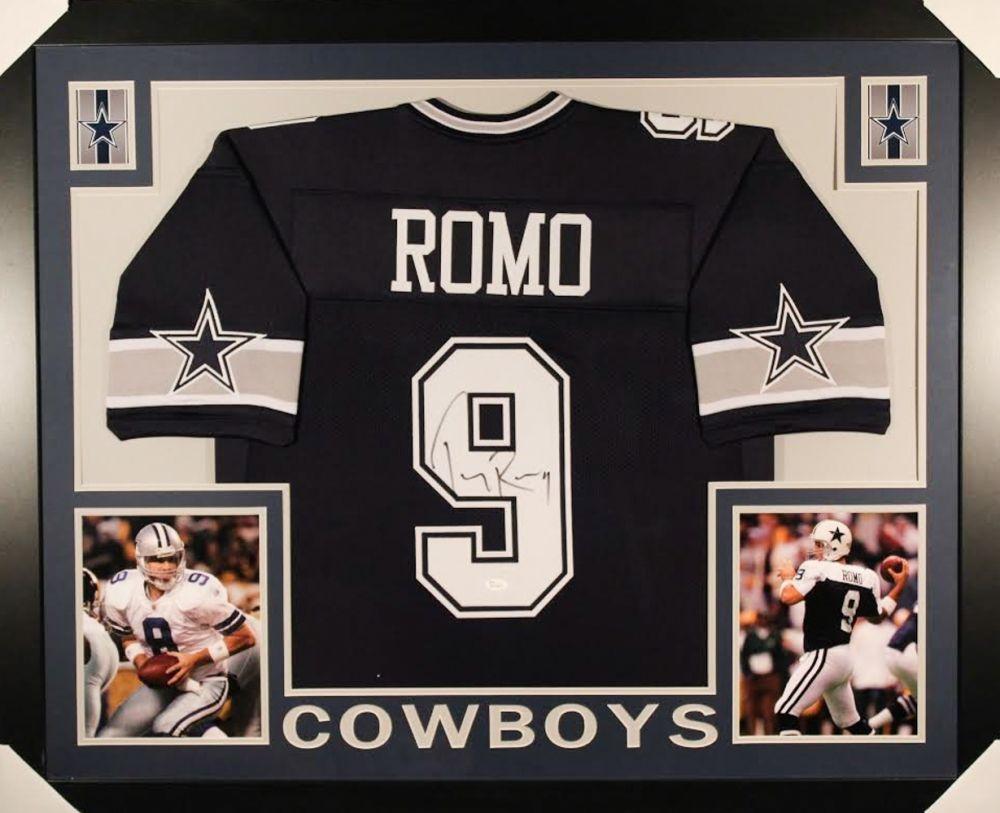 670232e71b3 TONY ROMO AUTOGRAPHED FRAMED / MATTED DALLAS COWBOYS JERSEY | Memorabilia  Expert