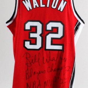 Bill Walton Signed Basketball Lot (4) - COA JSA
