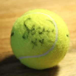 A Serena Williams Game-Used & Signed Australian Open Tennis Ball.  2016.