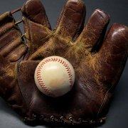 vintage baseball mitt and gloves