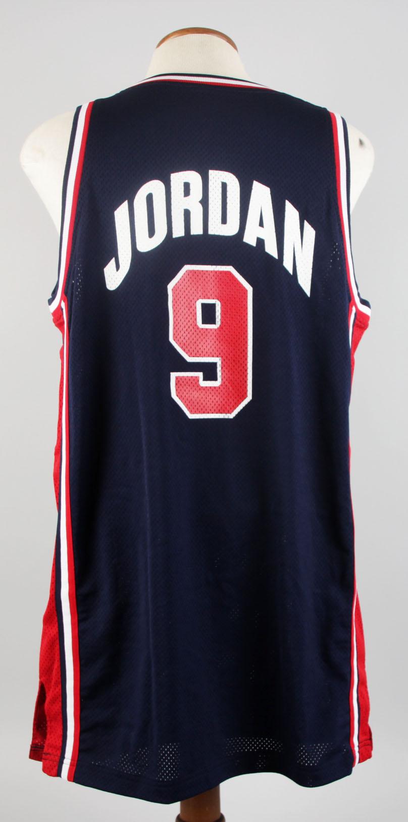 USA Michael Jordan Team-Issued Blue Basketball Jersey