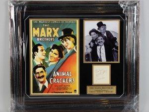 The Marx Bros.- Chico, Harpo & Groucho Signed Cut 25x29 Display- JSA Full LOA