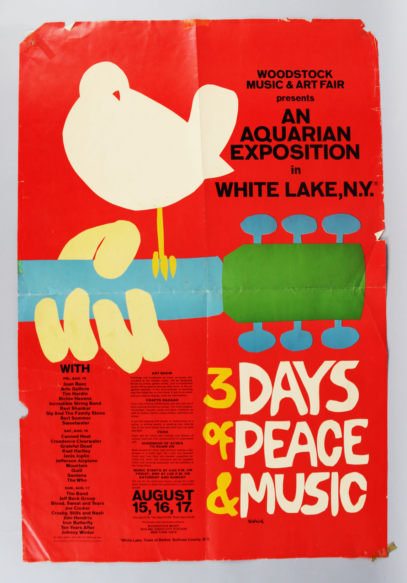 1971 Woodstock Movie Poster 24x36""