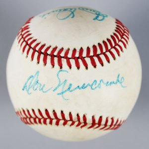 Brooklyn Dodgers Multi-Signed ONL Baseball - Newcombe, Branca & Labine - COA
