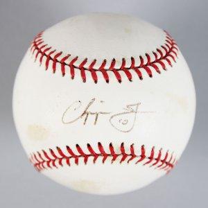 """Atlanta Braves - Chipper Jones Signed & Inscribed """"10"""" ONL Baseball - JSA"""