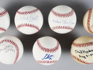 "MLB All-Star's Single-Signed Baseballs (7) - Bob Feller, Phil Niekro,""Mudcat"" Grant etc.- JSA"