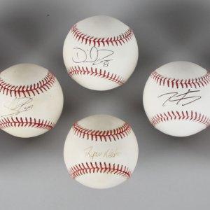 Atlanta Braves Single-Signed Baseball Lot (10) - Freeman, Hinske, Ross etc. - JSA