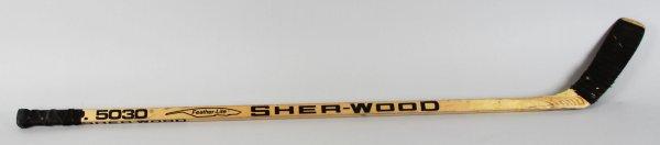 1989-91 LA Kings - Steve Kasper Game-Used Hockey Stick - COA