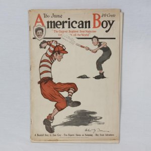 "June 1920 - American Boy Magazine - ""A Baseball Story"" By Zane Grey"