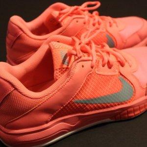 A Pair of Serena Williams Game-Used Custom Nike Tennis Shoes.  2015 WTA Season.