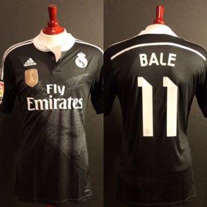 A Gareth Bale Game-Used #11 Real Madrid CF Away Shirt.  2014/15 La Liga Season.