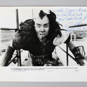 The Road Warrior - Vernon Wells Signed & Inscribed 8x10 Photo - COA