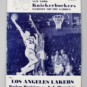 Dec. 25, 1963 NY Knickerbockers vs. LA Lakers Basketball Program