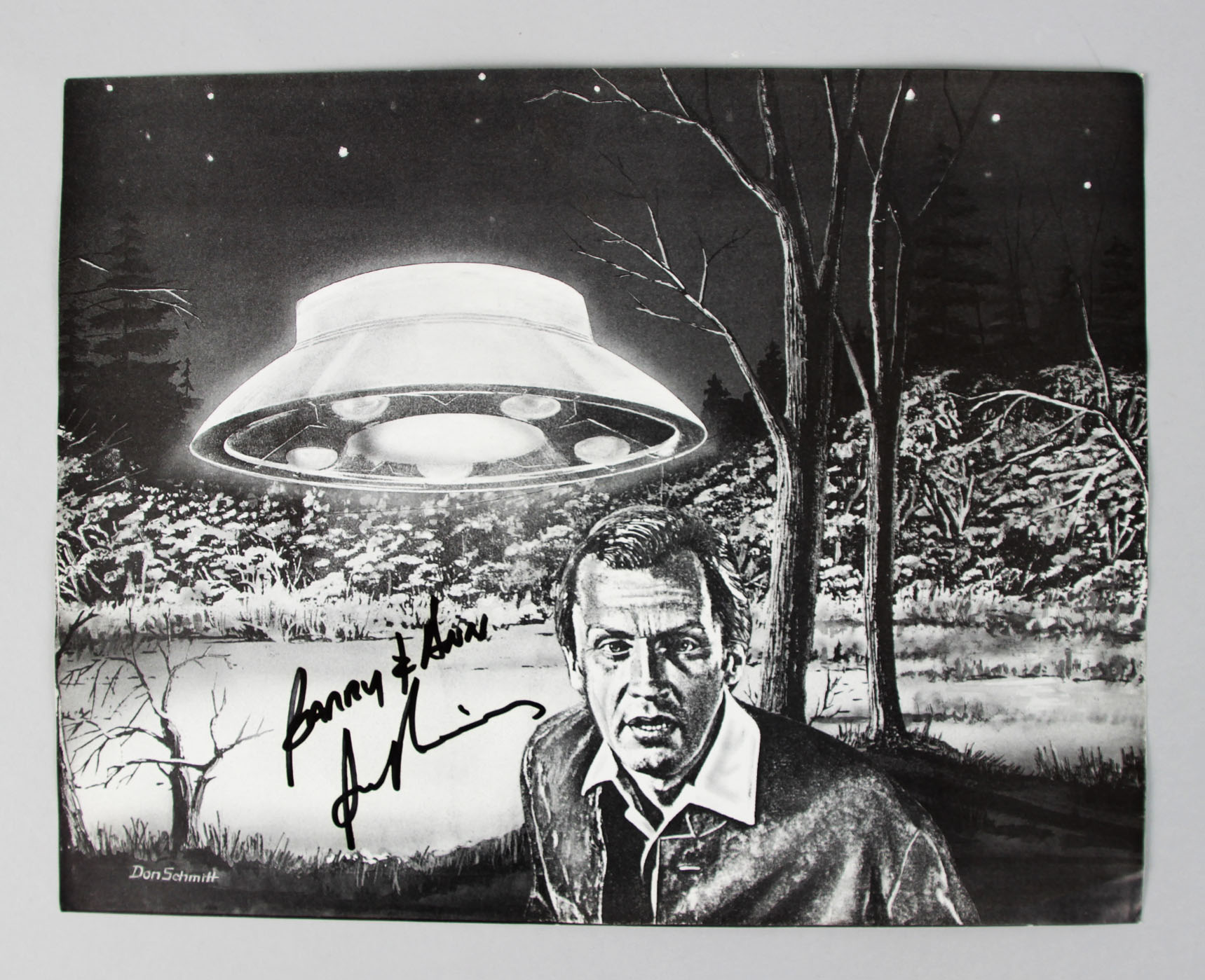 The Invaders - Roy Thinnes Signed 8x10 BW Photo - COA