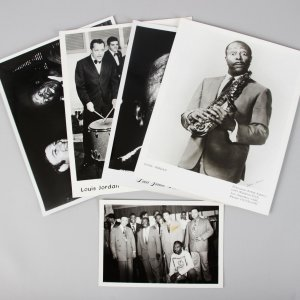 5 Vintage B/W Photos of R&B Star Louis Jordan