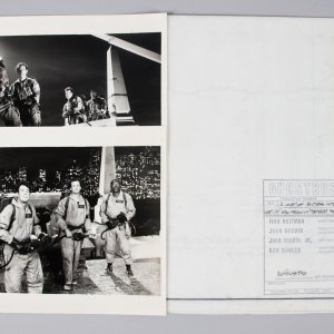 1984 Ghostbusters Lot - Scene Blueprint & (2) Scene Photos - COA