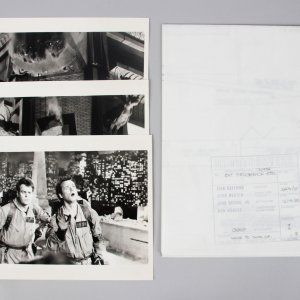 1984 Ghostbusters Lot - Scene Blueprint & (3) Scene Photos - COA