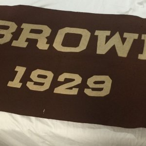 Vintage 1929 VERY LARGE BROWN UNIVERSITY SCHOOL DISPLAY -LARGE BANNER-RARE !