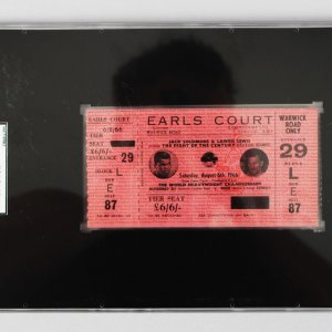 Muhammad Ali v Brian London at Earls Court, London on August 6th 1966 Full Ticket - SGC