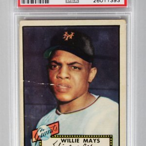 1952 Topps - NY Giants- Willie Mays Baseball RC Card - PSA Graded PR 1