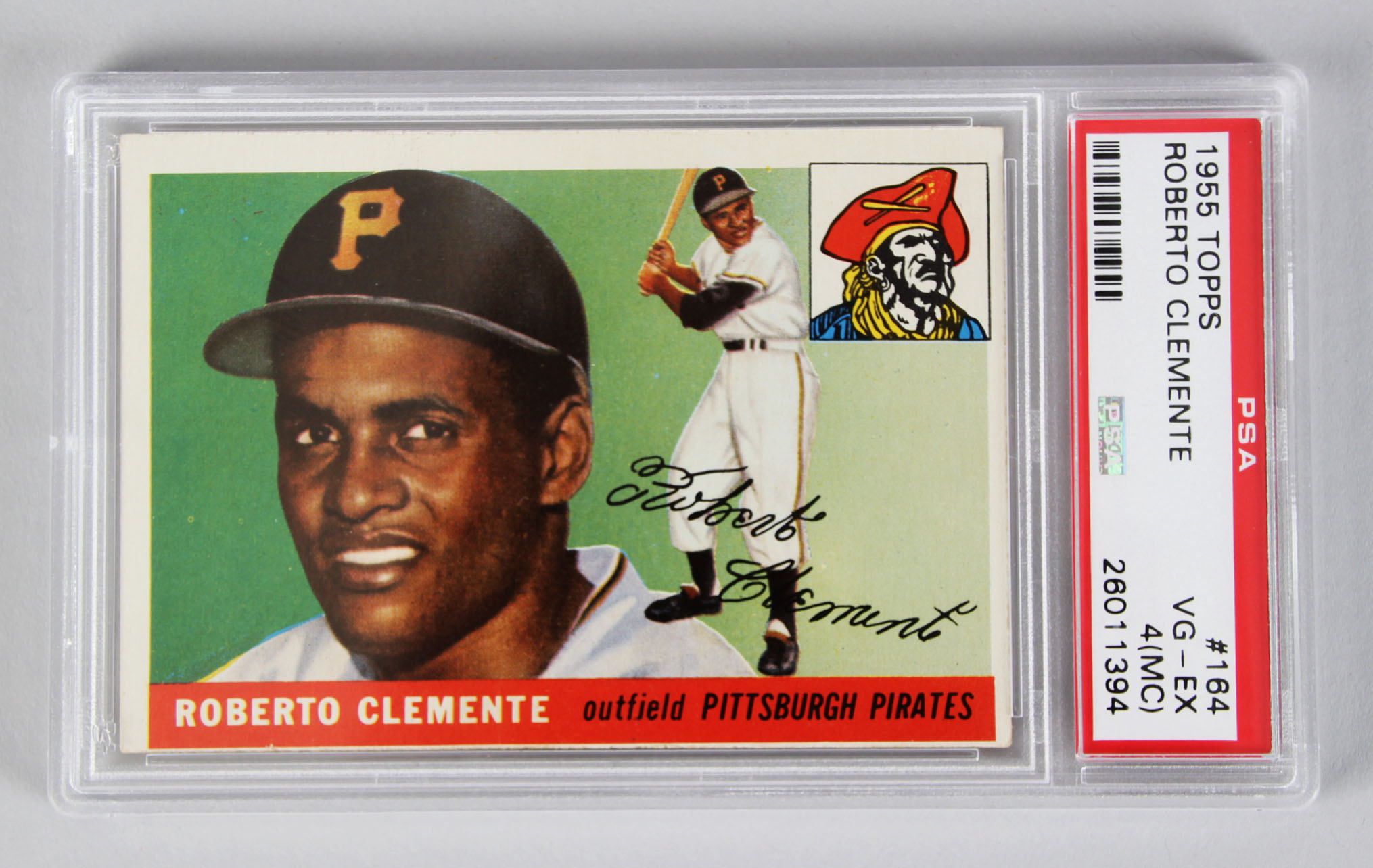 1955 Topps Pittsburgh Pirates Roberto Clemente Baseball Rc Card Psa Graded Vg Ex 4 Mc