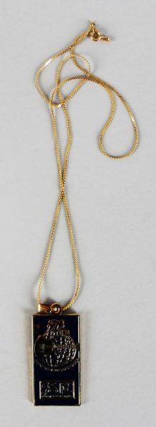 B.B. King 1997 Blues Music Festival USA Personal Commemorative Necklace Provenance LOA
