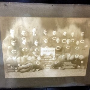 "1909 Chicago Championship Football League Large Team Cabinet Photo 16"" x 20"""