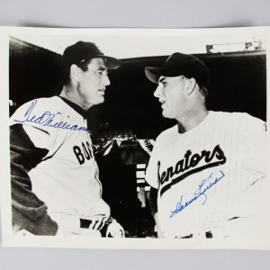Ted Williams & Harmon Killebrew Signed Opening Day Photo - PSA/DNA & JSA