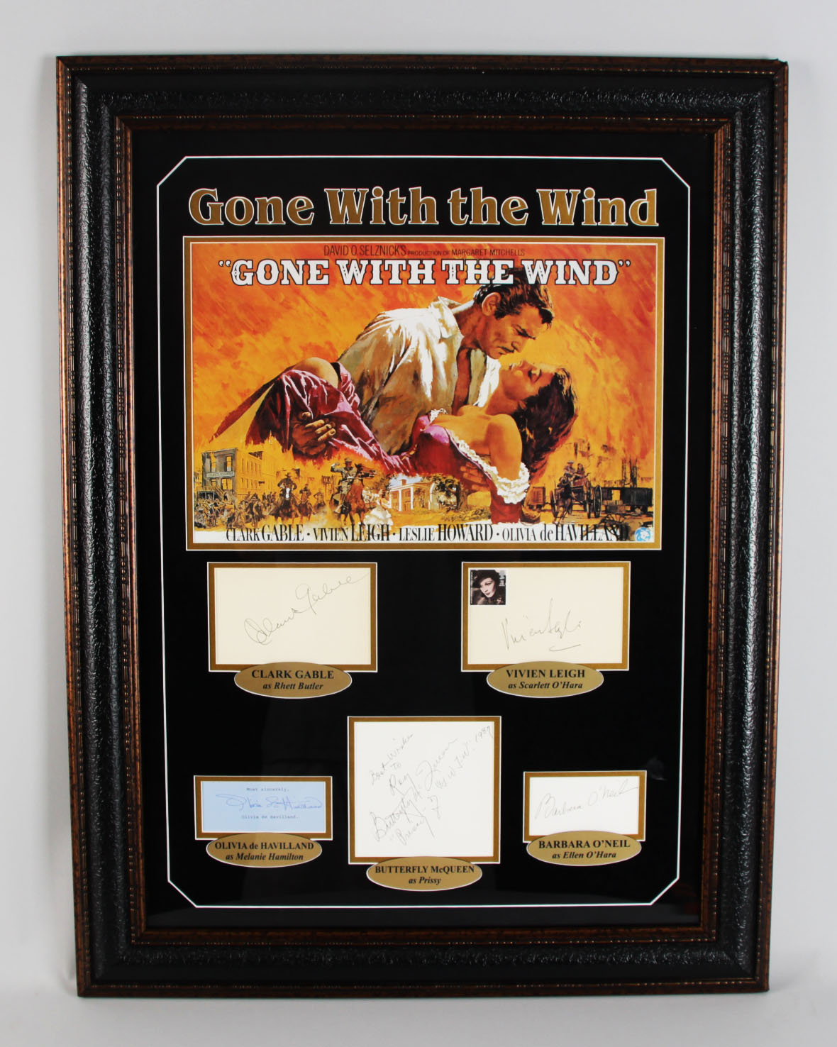 Gone With The Wind Cast Signed Display (Vintage Album Pages) COA JSA