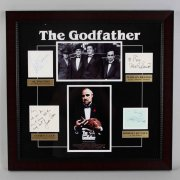 """The Godfather"" Signed Cast Album Page Display Poster - JSA Full LOA"
