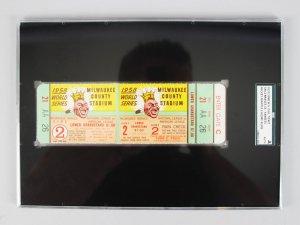 1958 World Series Game 2 Full Ticket-Mantle WS HR #10 - #11- (SGC) Auth