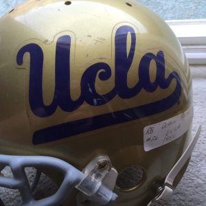 1999 UCLA DeShaun Foster Game-Worn, Signed Helmet
