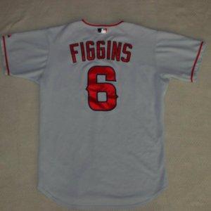 Rare 2003 Anaheim Angels - Chone Figgins Game-Worn Jersey-One Year Style