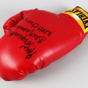 "Roger ""Black Mamba"" Mayweather Signed & Inscribed Boxing Glove - COA JSA"