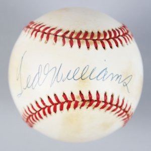 Boston Red Sox - Ted Williams Signed OAL Baseball - UDA