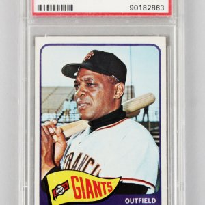 1965 Topps -SF Giants- Willie Mays Graded Card #250 - PSA EX 5