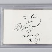 Muhammad Ali Signed, Inscribed & Dated Invitation - (PSA/DNA Encapsulated)