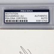Muhammad Ali Signed, Inscribed & Dated Invitation - (PSA/DNA Encapsulated)