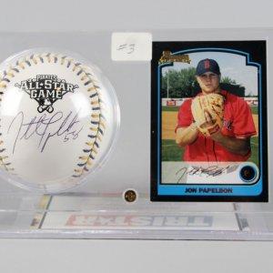 Boston Red Sox - Jon Papelbon Signed Baseball & Card Display - TriStar & MLB
