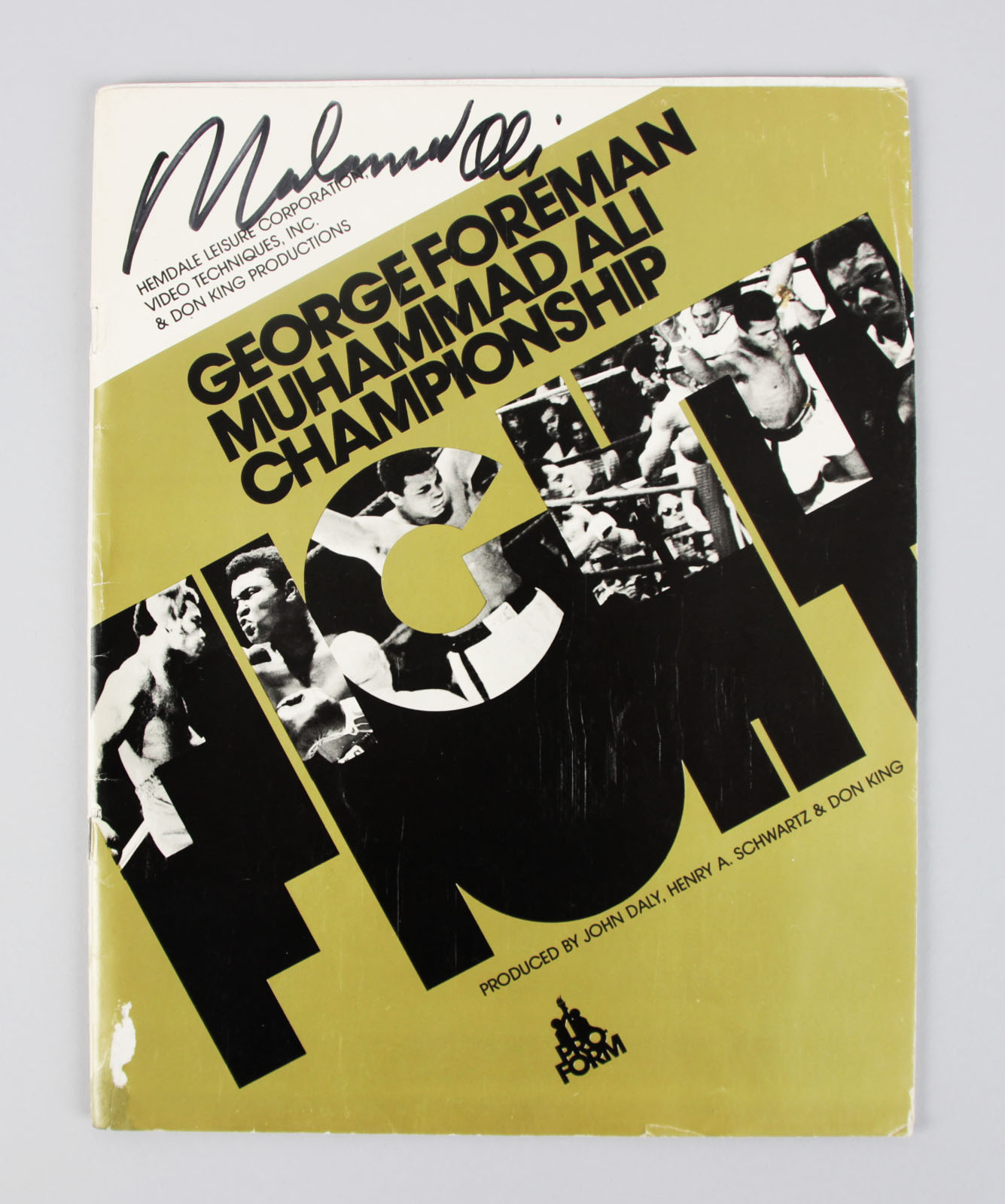 1974 Muhammad Ali Signed The Rumble in the Jungle Program - PSA/DNA Full LOA