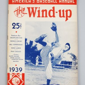 1939 America's Baseball Annual The Wind Up Magazine