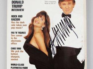 1990 Donald Trump Signed Playboy Magazine - COA JSA