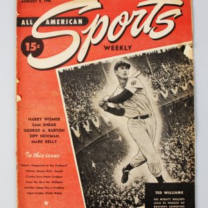 1946 All American Sports Weekly First Issue - Ted Williams