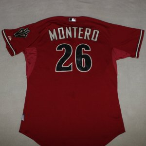 2010 Arizona Diamondbacks - Miguel Montero Game-Worn Jersey (MLB Hologram) &Helmet