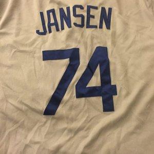 2014 L.A. Dodgers - Kenley Jansen Game-Worn Jersey (vs. Angels in Freeway Series) MLB Hologram