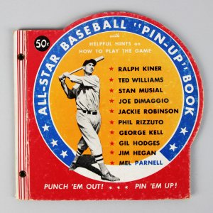 1950 All-Star Baseball Pin-Up Book Feat. Joe DiMaggio, Ted Williams, Jackie Robinson etc.