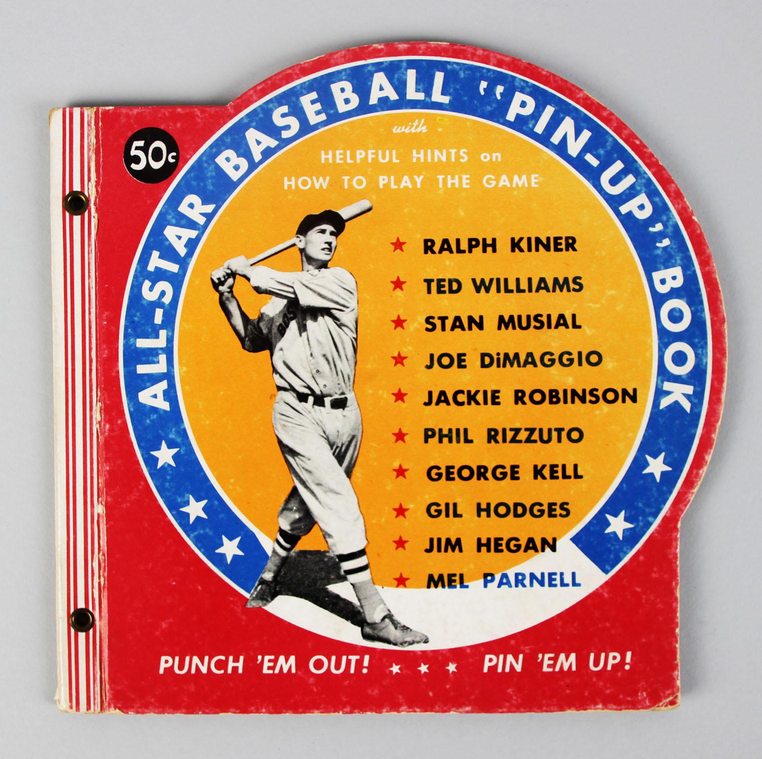Ted Williams, Jackie Robinson 1950 All-Star Baseball Pin-Up Book .