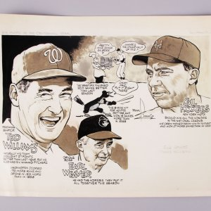 Original 1968  Ace Pilots Baseball Frank Lanning CARTOON